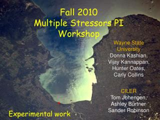 Fall 2010  Multiple Stressors PI Workshop