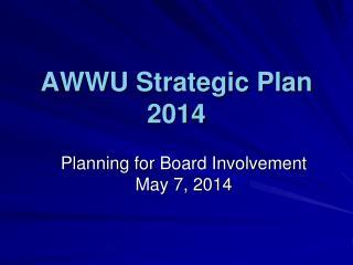 AWWU Strategic Plan 2014