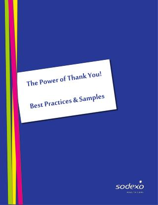 The Power of Thank You! Best Practices & Samples