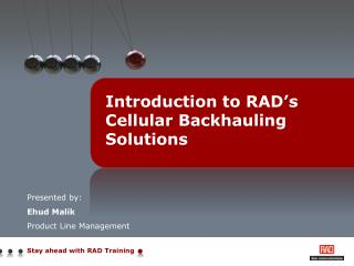 Introduction to RAD's Cellular Backhauling Solutions