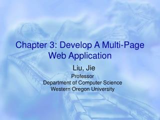 Chapter 3: Develop A Multi-Page Web Application