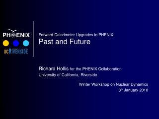 Forward Calorimeter Upgrades in PHENIX: Past and Future