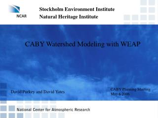 CABY Watershed Modeling with WEAP