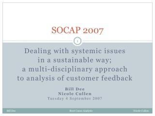 SOCAP 2007