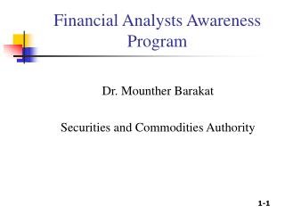 Financial Analysts Awareness Program
