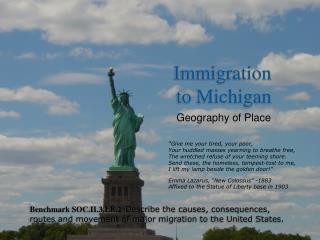 Immigration  to Michigan