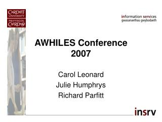 AWHILES Conference 2007