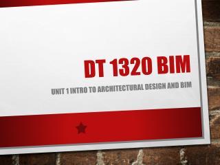 DT 1320 BIM