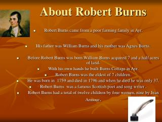 About Robert Burns