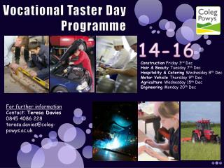 Vocational Taster Day Programme