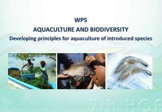 WP5 Aquaculture and biodiversity
