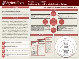 Professional Seminar: Conducting Research in a Collaborative Culture
