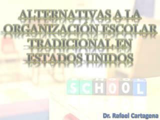 ALTERNATIVAS A LA ORGANIZACIÓN ESCOLAR TRADICIONAL EN ESTADOS UNIDOS