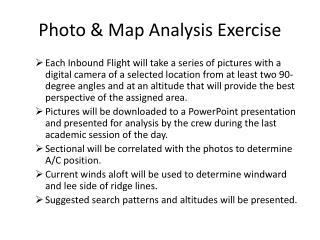 Photo & Map Analysis Exercise