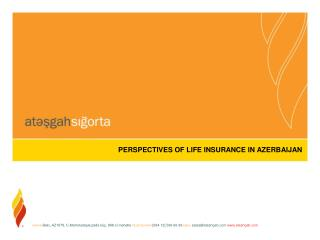 PERSPECTIVES OF LIFE INSURANCE IN AZERBAIJAN