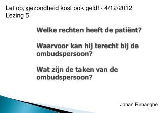 Johan Behaeghe