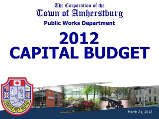 The Corporation of the Town of Amherstburg Public Works Department