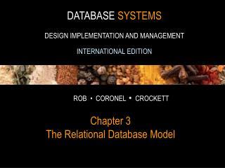 Chapter 3 The Relational Database Model