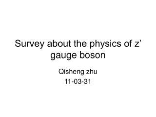 Survey about the physics of z' gauge boson