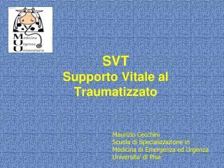 SVT Supporto Vitale al Traumatizzato