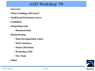 ASIS Workshop '99