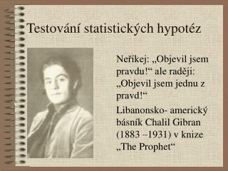 Testov n  statistick ch hypot z