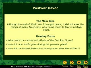 Postwar Havoc