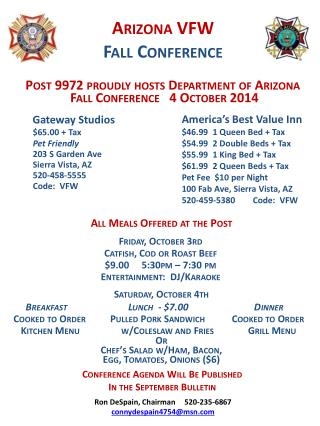 Arizona VFW Fall Conference