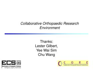 Collaborative Orthopaedic Research Environment
