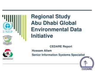 Regional Study Abu Dhabi Global Environmental Data Initiative