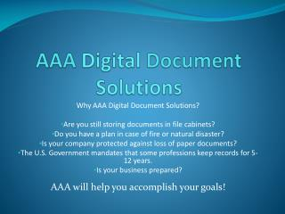 AAA  Digital  Document  Solutions