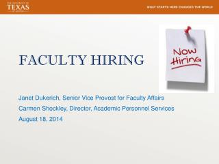 FACULTY HIRING