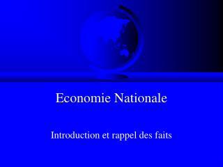 Economie Nationale