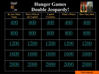 Hunger Games  Double Jeopardy!