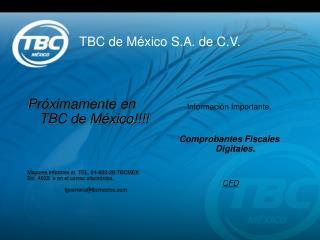 TBC de M xico S.A. de C.V.