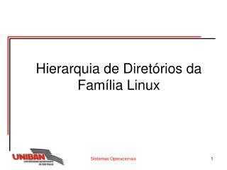 Hierarquia de Diretórios da Família Linux