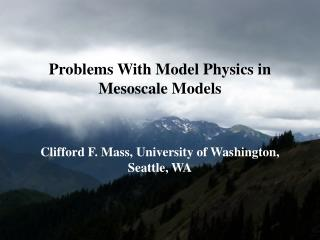 Major Improvements in Mesoscale Prediction
