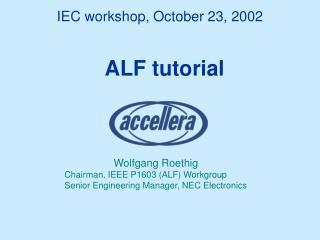 IEC workshop, October 23, 2002