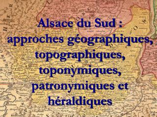 Approches  géographiques