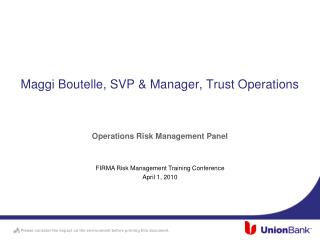 Maggi Boutelle, SVP & Manager, Trust Operations