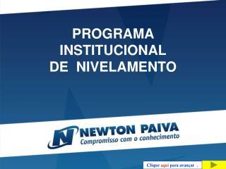 PROGRAMA INSTITUCIONAL  DE  NIVELAMENTO