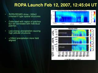 ROPA/REIMEI show ~300eV inverted-V type spatial structures