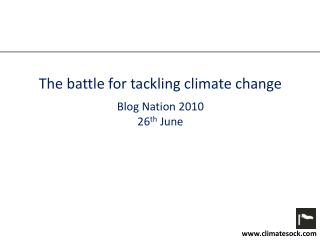 The battle for tackling climate change