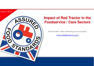 Impact of Red Tractor in the Foodservice / Care Sectors