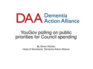 YouGov polling on public priorities for Council spending By Simon Kitchen
