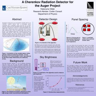 A Cherenkov Radiation Detector for the Auger Project Katarzyna Oldak