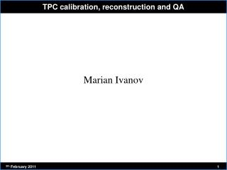 TPC calibration, reconstruction and QA