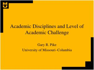 Academic Disciplines and Level of Academic Challenge