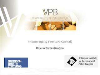 Private Equity (Venture Capital) Role in Diversification