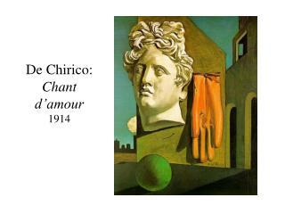 De Chirico: Chant d'amour 1914